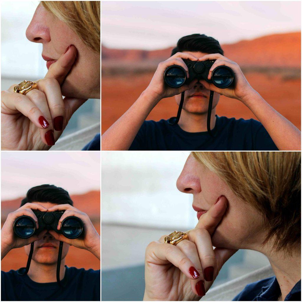 Imágenes de personas observando para empalizar