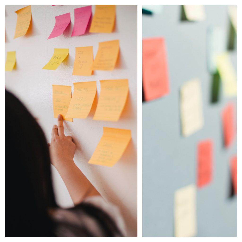La herramienta de Design Thiinking saturar y agrupar