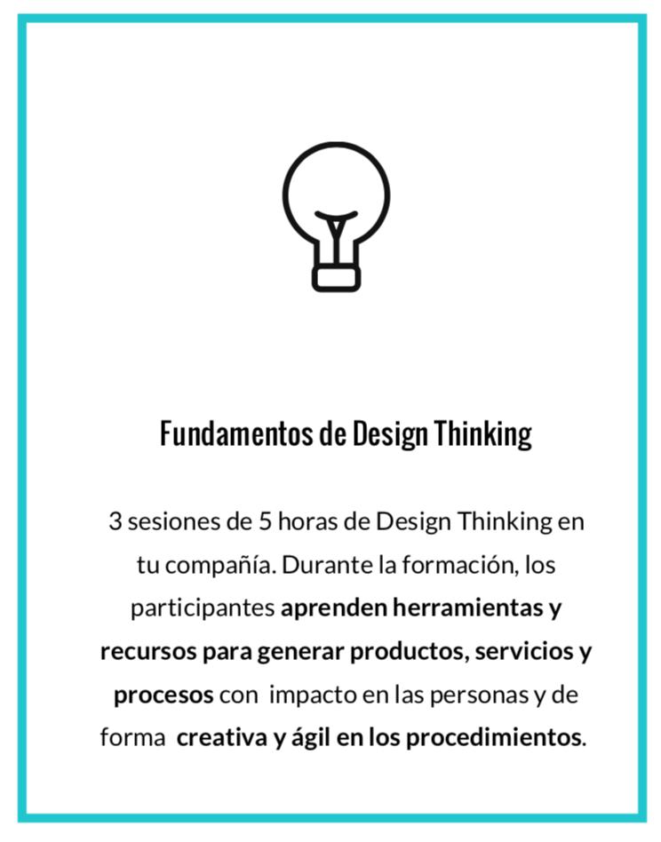 Formación en empresas para aprender los fundamentos del Design Thinking