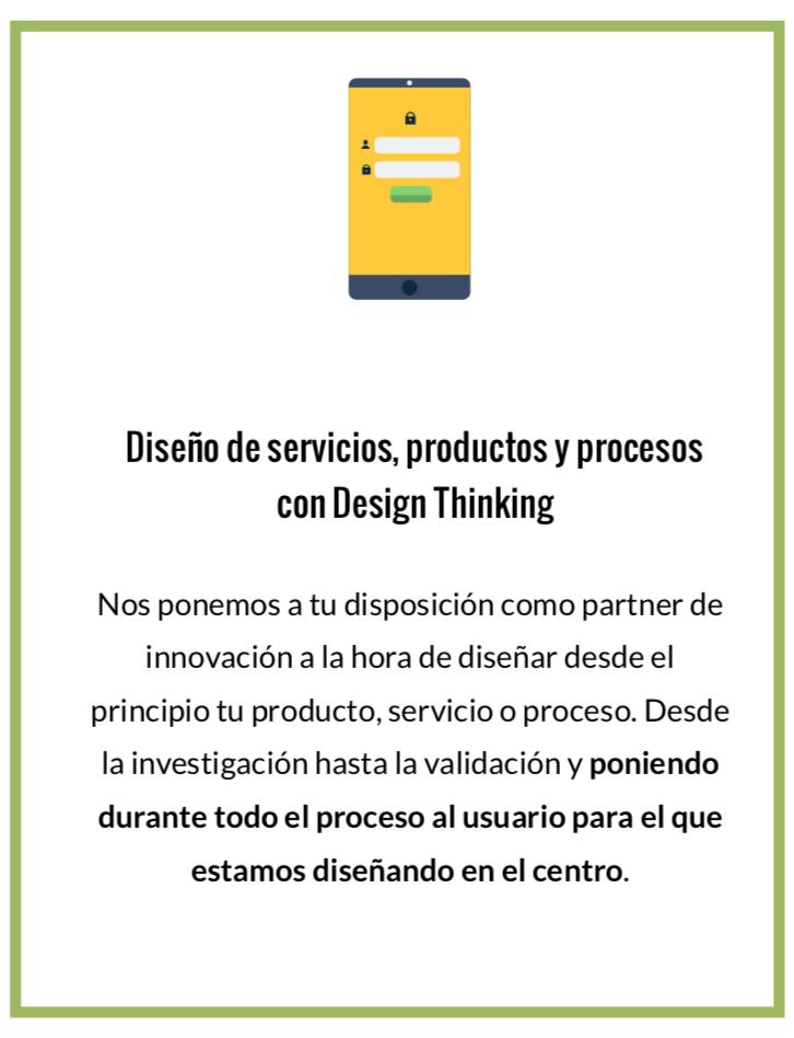 Diseño de productos, procesos y servicios con metodología Design Thinking