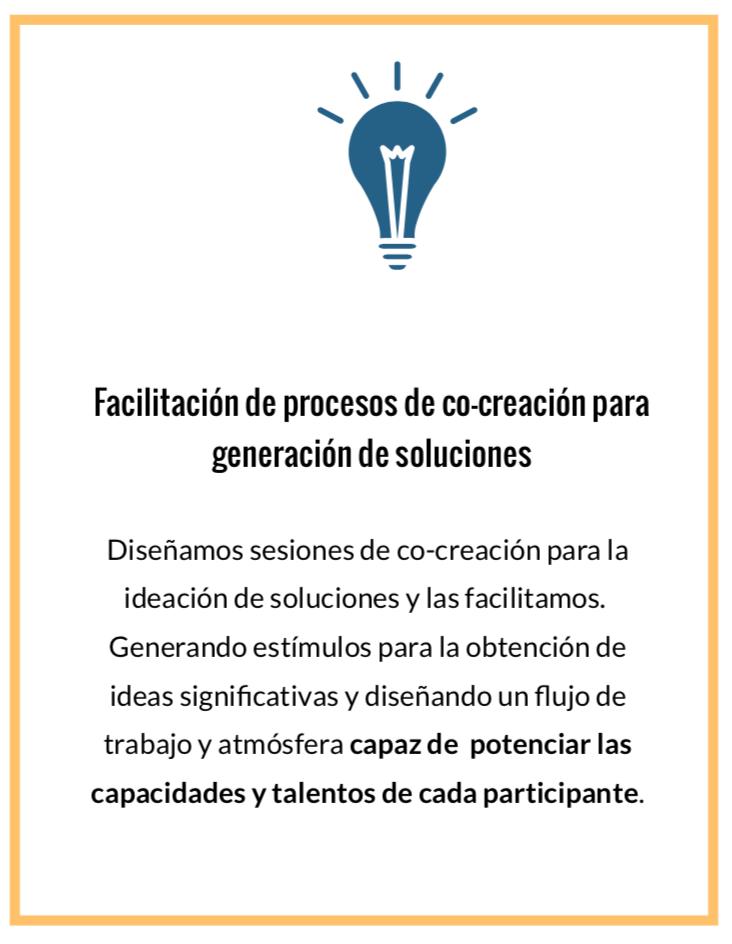 Facilitación de procesos de cocreación en Design Thinking para generación de soluciones innovadoras