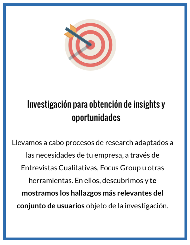 Research para extracción de insights y opprtunidades